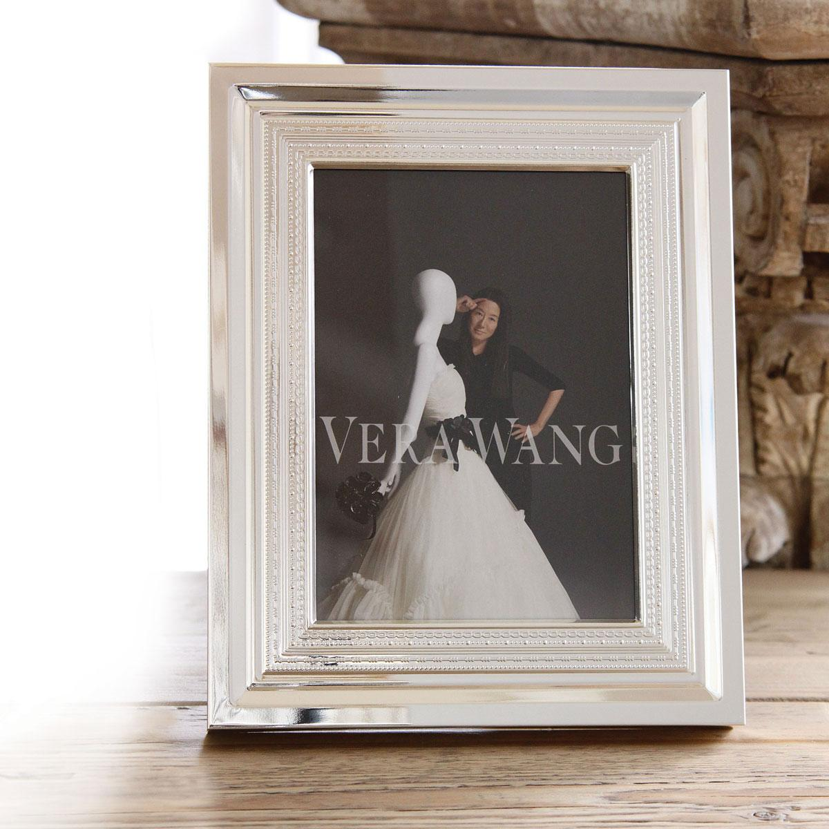 "Vera Wang Wedgwood With Love Silver 8x10"" Picture Frame"