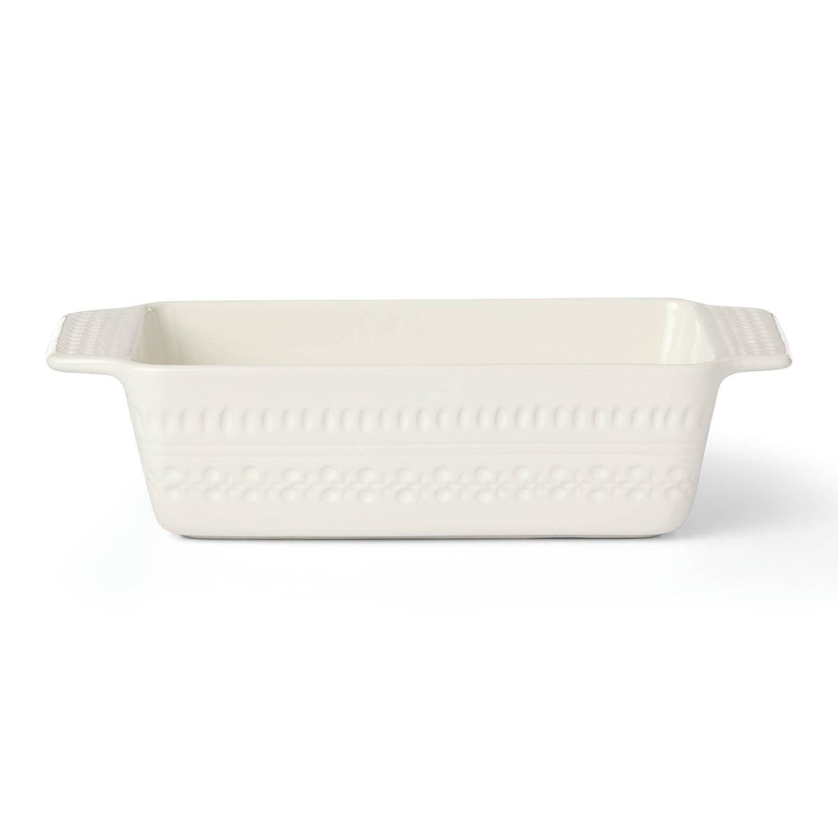 kate spade new york Lenox Stoneware Willow Drive Cream Loaf Pan