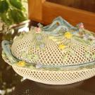 Belleek China Masterpiece Collection Oval Covered Basket