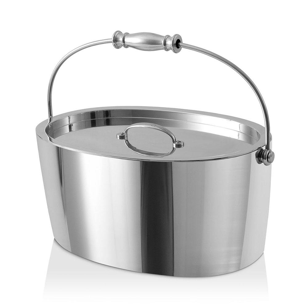 Crafthouse Stainless Steel Oval Ice Bucket with Scoop Set