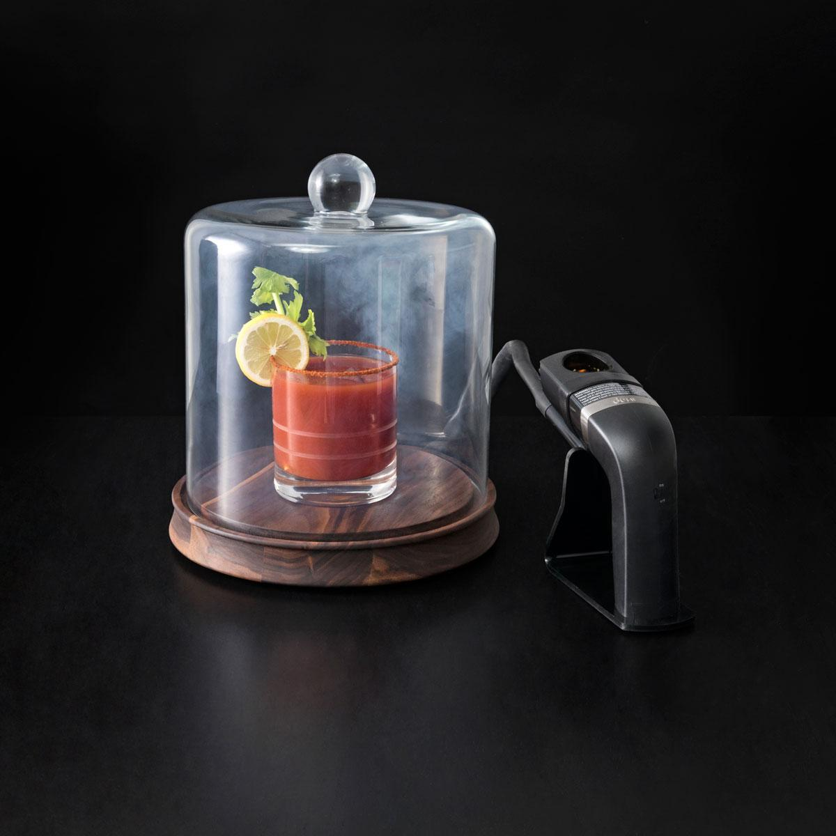 Crafthouse Glass Smoke Cloche with Smoker and Chips