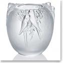Lalique Perruches Vase