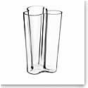 """Iittala Alvar Aalto Finlandia 10"""" Vase, Clear"""
