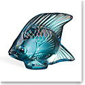 Lalique Turquoise Lustre Fish Sculpture