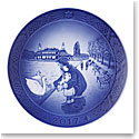 Royal Copenhagen Collectibles Christmas Plate 2017, Walk at the Lakes