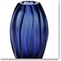 Lalique Medusa Small Vase, Midnight Blue