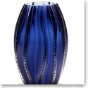 Lalique Medusa Large Vase, Midnight Blue