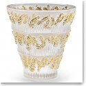 Lalique Provence Vase, Gold Stamped