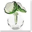 Lalique Two Anemones Perfume Bottle, Green And White Enamelled