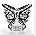 Lalique Tourbillons Ovale Vase, Black