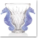 Lalique Limited Edition Poseidon Blue Lavender Vase
