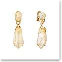 Lalique Icone Clip Earrings, Vermeil