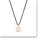 Lalique Vibrante Round Pendant Necklace, Vermeil