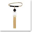 Lalique Vibrante Tassel Brooch, Vermeil