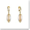 Lalique Vibrante Oval Clip Earrings, Vermeil