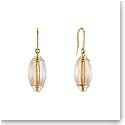 Lalique Vibrante Oval Pin Clasp Earrings, Vermeil