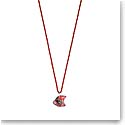 Lalique Poisson Fish Pendant Necklace, Red