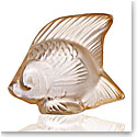 Lalique Fish Sculpture, Gold Luster