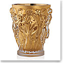 Lalique Bacchantes XXL Vase, Clear With Gold Leaf, Limited Edition of 90
