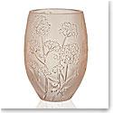 Lalique Ombelles Vase, Gold Luster, Medium