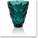 Lalique Champs Elysees Small Vase, Deep Green