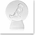 Lalique Dog Paperweight, Clear