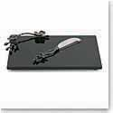 Michael Aram Black Orchid Small Cheeseboard with Knife