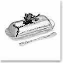 Michael Aram Black Orchid Butter Dish with Knife
