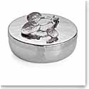 Michael Aram Botanical Leaf Round Trinket Box