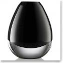 "Rogaska 1665 Fashionably Late Vase 5.5"" Black"