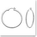 Swarovski Crystal and Rhodium Somerset Hoop Pierced Earrings