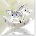 Swarovski Rocking Horse, Crystal and Light Sapphire