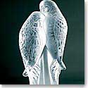 Lalique Two Parrots Sculpture