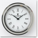 Waterford Silver Tone Clock Face Insert, Large 2 3/4""