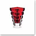 "Rogaska Adria Red 10"" Vase"