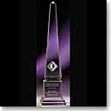 "Crystal Blanc Optic Athena Obelisk 10"""
