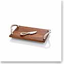 Michael Aram Rope Wood Cheeseboard with Knife
