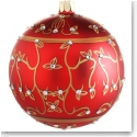 Waterford Holiday Heirloom Jeweled Holiday Scroll Ball Ornament