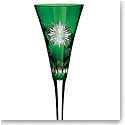 Waterford Snowflake Wishes For Courage Emerald Flute, Single