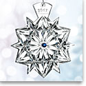 Waterford Snowflake Wishes Ornament 2017, Cobalt Jewels