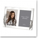 "Monique Lhuillier Waterford Silver Lily of The Valley 5x7"" Double Invitation Frame"