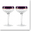Waterford Contemporary Elysian Amethyst Champagne Coupe, Pair