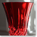 "Waterford Colour Me Lismore Crimson Flared 8"" Vase"