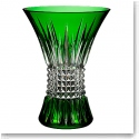 "Waterford Lismore Diamond Emerald 8"" Vase"