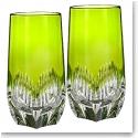 Waterford Mixology Neon Green Hiball, Pair