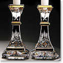 "Waterford Lismore Gold 6"" Candlestick, Pair"