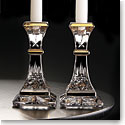 "Waterford Lismore Gold 8"" Candlestick, Pair"