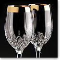 Waterford Lismore Essence Golden Goblet, Pair