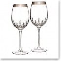 Waterford Lismore Essence Platinum Wide Band Goblet, Pair