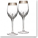 Waterford Lismore Essence Platinum Wide Band Wine, Pair